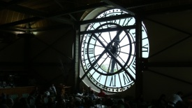 Clock from inside the Musée d'Orsay, Paris, France