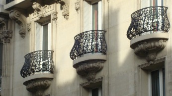 Wrought iron railings, Paris, France