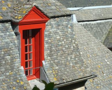 Window detail, Mont Saint-Michel, France