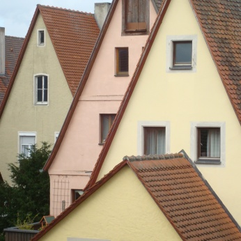 Houses, Rothenburg ob der Tauber, Germany