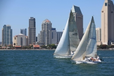 Sailing on San Diego Harbor, San Diego, California