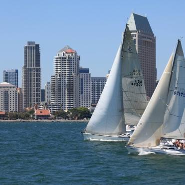 Sailing on San Diego Harbor, San Diego, California