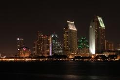 San Diego skyline at night, San Diego, California