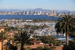 San Diego harbor from Point Loma, San Diego, California