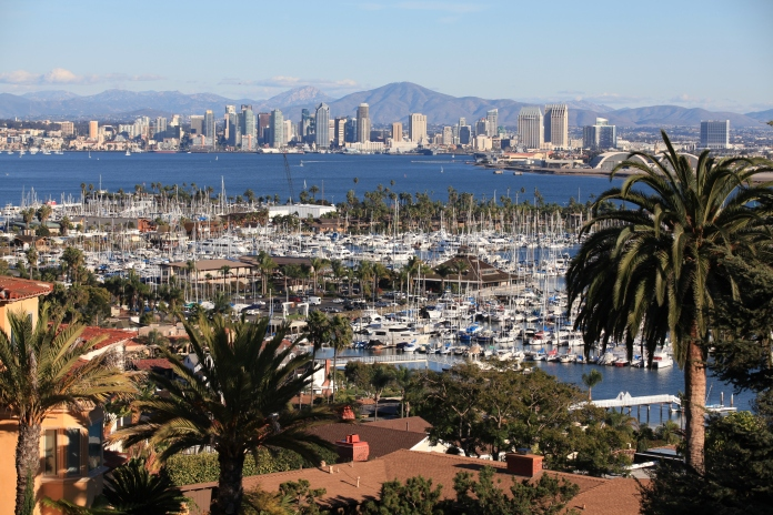 San Diego harbor from Point Loma, San Diego, California