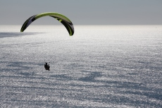 Parasailing over the Pacific Ocean, Torrey Pines Gliderport, San Diego, California