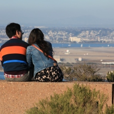 Enjoying the view, Cabrillo National Monument, San Diego, California