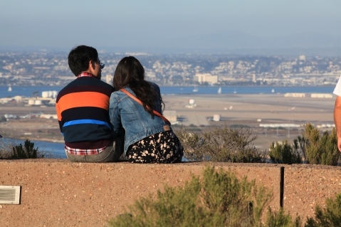 Enjoying the view, Cabrillo National Monument, San Diego, California