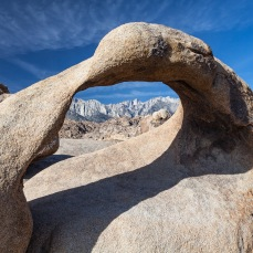Mount Whitney through Mobius Arch, Alabama Hills, California