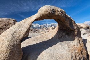 Mount Whitney through Mobius Arch, Alabama Hills, California