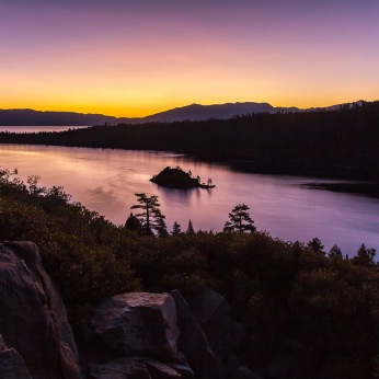 Sunrise, Emerald Bay, Lake Tahoe, California
