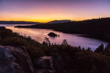 Sunrise, Emerald Bay, Lake Tahoe, California