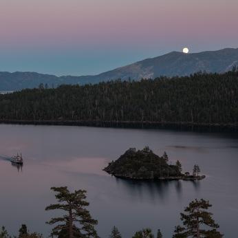 Moonrise, Emerald Bay, Lake Tahoe, California