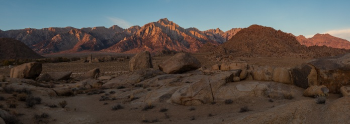 Sunrise on the Eastern Sierra Nevada, Alabama Hills