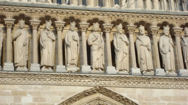 Statues at Notre Dame cathedral, Paris,, France