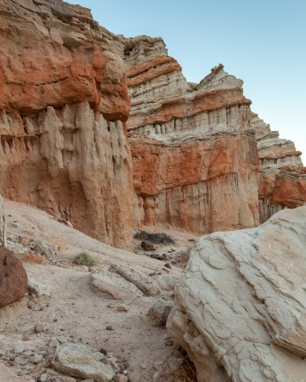Red rock formations at Red Rock Canyon State Recreation Area