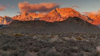 Sunrise on the Sierra Nevada