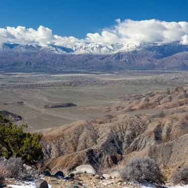 Coachella Valley with the San Andreas fault from Keys View