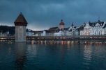 Approaching storm over Luzern and the Kappelbrücke