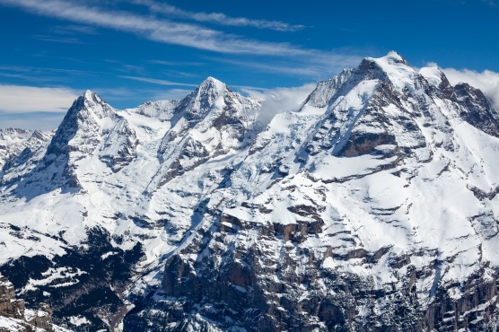 The Eiger, Mönch, and Jungfrau from the Schilthorn