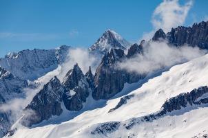 Jagged peaks near the Aletsch Glacier