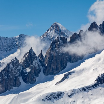 Jagged peaks near the Aletsch Glacier
