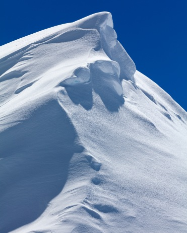 Snow formation about 5 meters tall