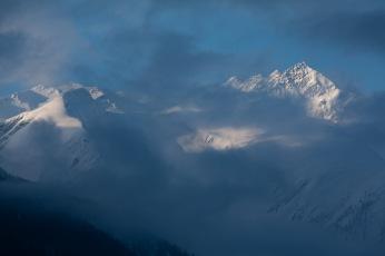 Swiss Alps from Fiesch, Switzerland